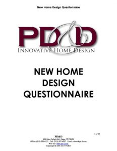 PD&D New_Home_Design_Questionnaire_Cover